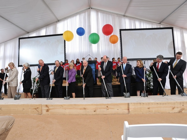 2 Officials at the Texas Children's  Hospital - The Woodlands groundbreaking February 2014