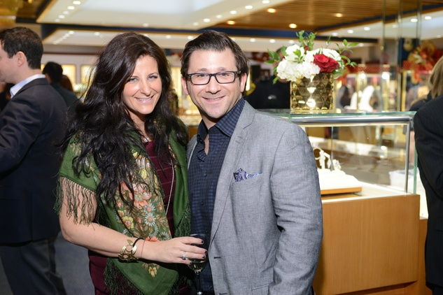 18 167 Rachel Wright and Levi Strauss at the Zadok Jewelers Holiday Party December 2014.