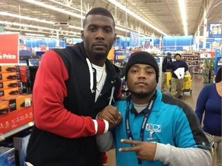 Dez Bryant at Walmart buying PlayStation 4s