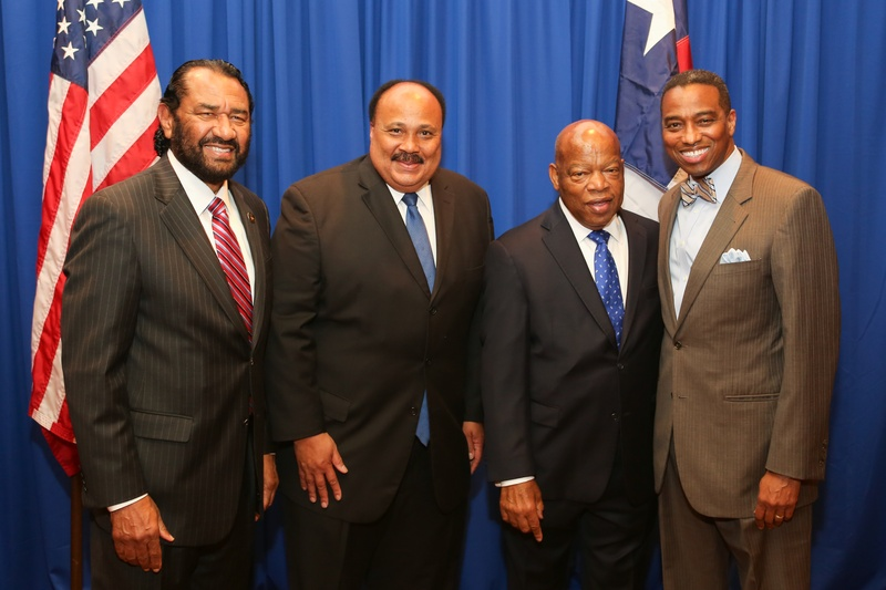 4 Al Green, from left Martin Luther King III, John Lewis and Khambrel Marshall at the Holocaust Museum Moral Courage Award dinner June 2014