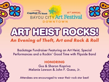 "Bayou City Art Festival's ""Art Heist Rocks!"""