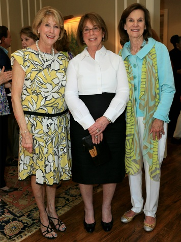 Susie Adams, Barbara McClellan, Stephanie Goodwin, Flora Award Announcement Party