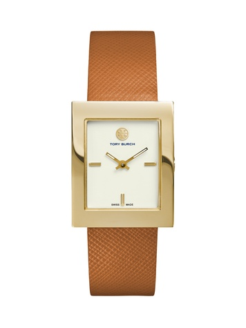 Tory Burch watch collection October 2014 The Buddy Classic brown band