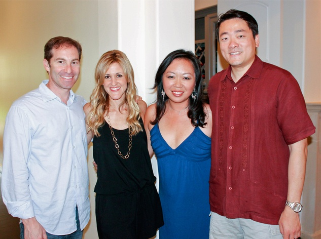 Eric Haas, from left, Courtney Zubowski Haas, Miya Shay and Gene Wu at the Bridal Brunch September 2014