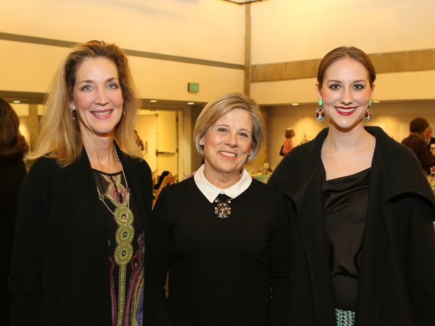 Florence Langford, from left, Jane Gladden and Anne Langford at the Alley Theatre Opening Night Dinner January 2014