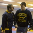 Steve Carell and Channing Tatum in Foxcatcher
