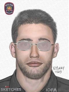 Police sketch of officer impersonator