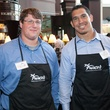 Owen Daniels, Celebrity Waiter Dinner, Ben Jones, James Casey, September 2012