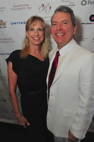 Karen and Roland Garcia at the Holly Rose Ribbon Foundation Day dinner September 2014