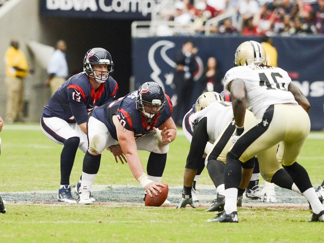 0110 Texans vs. Saints August 2013 T.J. Yates dropping back to pass