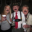 Revelers wearing mustaches at Wurstfest in New Braunfels