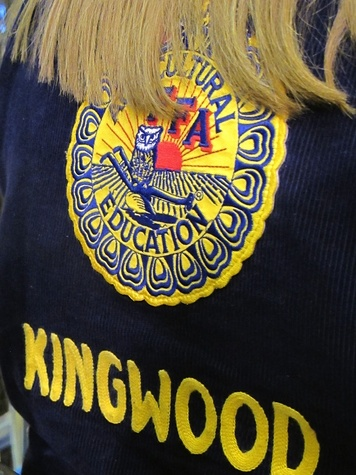 Katie Oxford Houston Rodeo FFA March 2015 FFA member from Kingwood High School