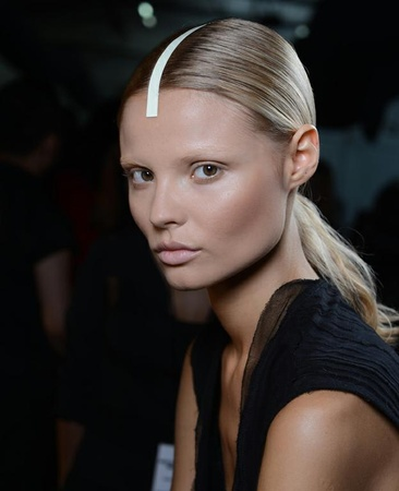 Alexander Wang, hair, fashion week, Sept. 2012