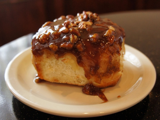 Sticky bun at Crossroads Diner in Dallas