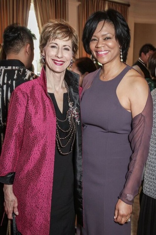 Linda Kuykendall, Suzette Brimmer at Passion for Fashion luncheon