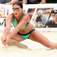 2 Jayme Lamm Jessica beach volleyball player October 2014