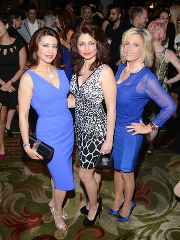 14 1906 Parissa Mohajer, from left, Mahzad Mohajer and Melanie Campbell at the Jonathan Blake fashion party April 2014