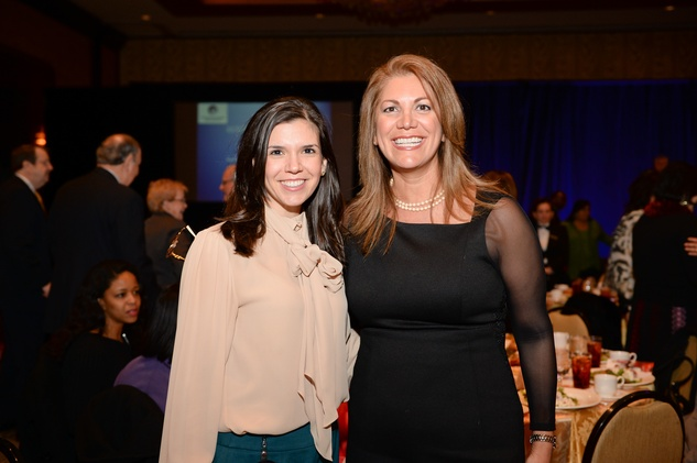 Gloria Bounds, left, and Frances Dyess at the El Centro de Corazon luncheon March 2015