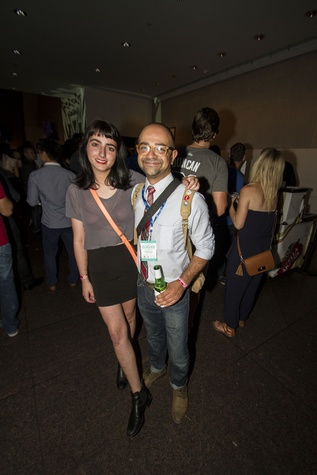Catherine Sullivan and Sean Askandari at the MFAH Mixed Media Party June 2014