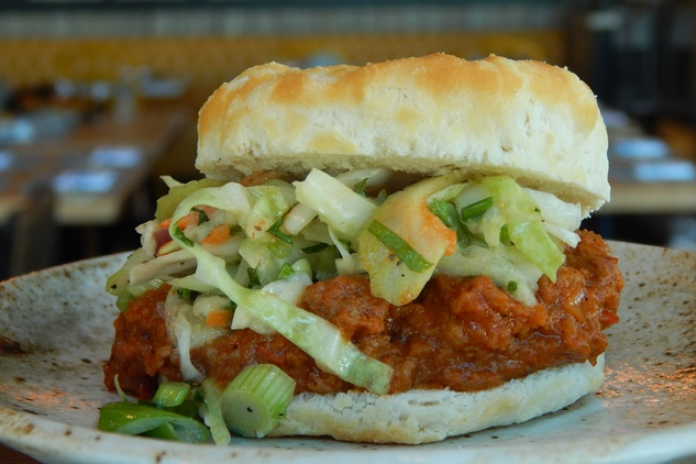 Bradley's Fine Diner Sloppy Joe Biscuit Slider