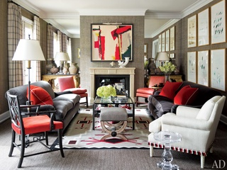 J. Randal Powers, living room, Architectural Digest, November 2012 issue, October 2012
