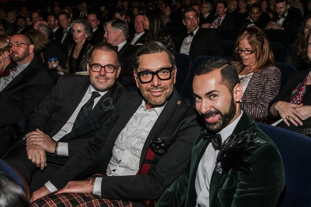 Todd Fiscus, from left, Ceron and Fady Armanious at the Bering Omega's Sing for Hope Event October 2014