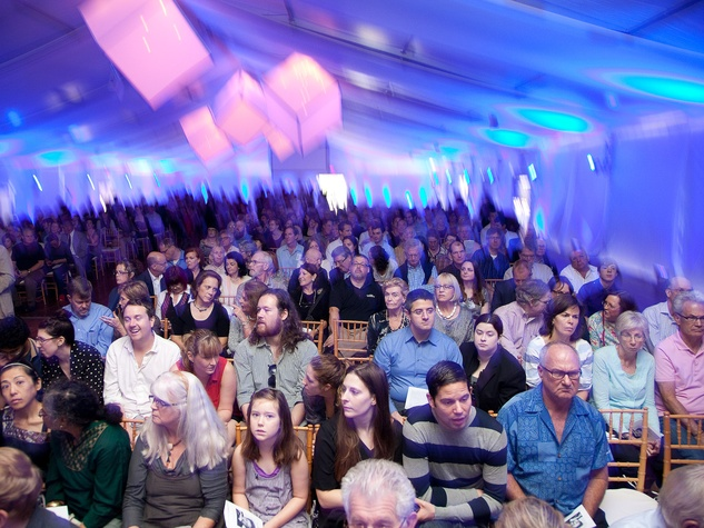 Philip Glass concert, December 2012, crowd, venue, The Menil
