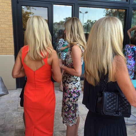Texas blondes at Tootsies patio party for Tamara Mellon