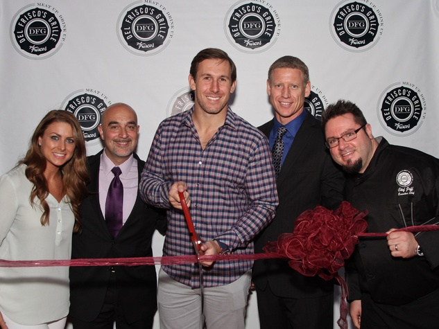 1, Del Frisco's Grille VIP party, March 2013, Angela Mecca, Arthur Mooradian, Owen Daniels, Scott Sieck, Chef Jeff Taylor