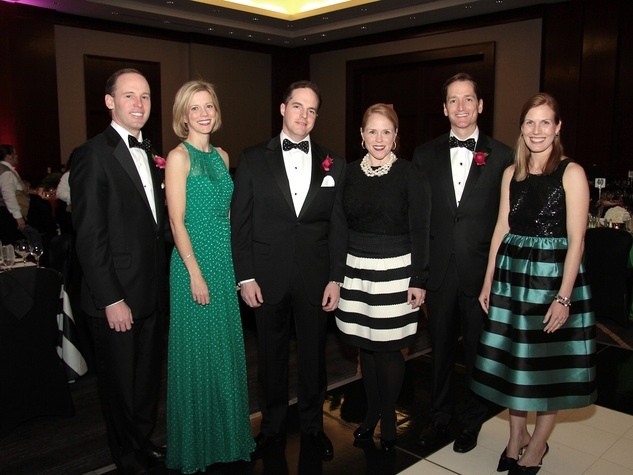 Drew and Megan Morris, from left, Dax and Kara Sanders and Mark and Nancy Kate Prescott at West University Park Lovers Ball February 2014