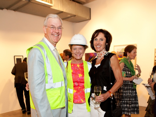 Jack Pendergrast, from left, Laura Bellows and Heidi Gerger at the Glassell School benefit and auction May 2014