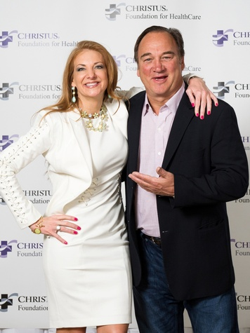 Kemah Blair and Jim Belushi at the Christus Health luncheon March 2014