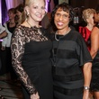 Jane Page Crump, left, and Sharon Owens at the Women's Chamber of Commerce Hall of Fame Gala December 2014
