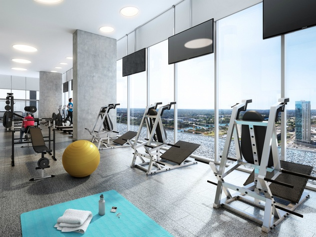 The Independent_downtown Austin condo_interior rendering_fitness gym_2015