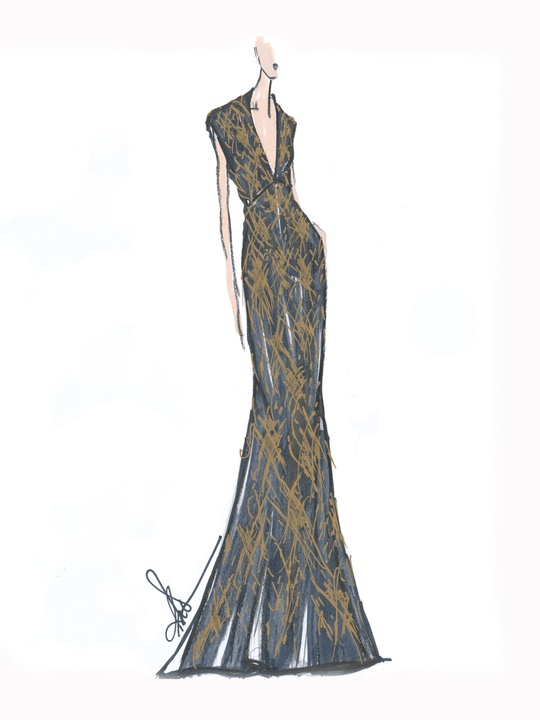 Designers' sketches fall 2014 Rita Vinieris
