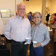 Richard E. Fluhr, left, and Rudy Hernandez at the Lawndale Big Show preview party July 2014