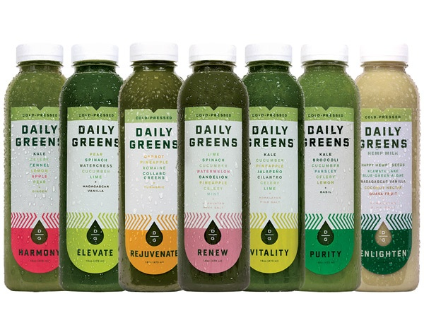 Daily Greens cold-pressed juices Courtesy of Daily Greens