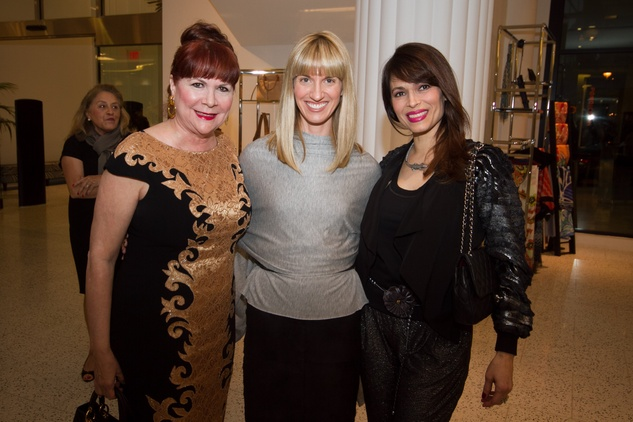 Barbara Van Postman, from left, Chris Goins and Karina Barbieri at the Latin Women Initiative's kick-off luncheon February 2014