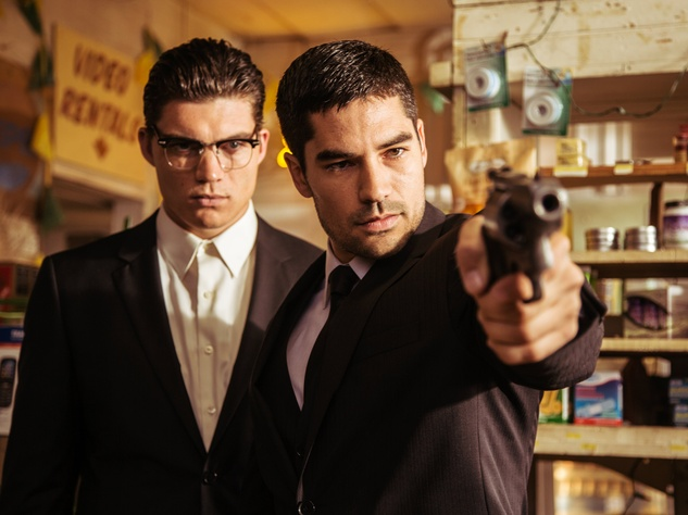 Zane Holtz and D.J. Cotrona in From Dusk Till Dawn the series as Gecko brothers