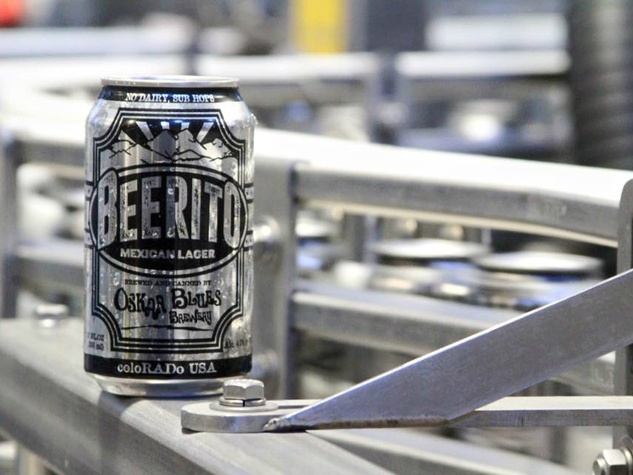 Oskar Blues Brewery beer can Beerito