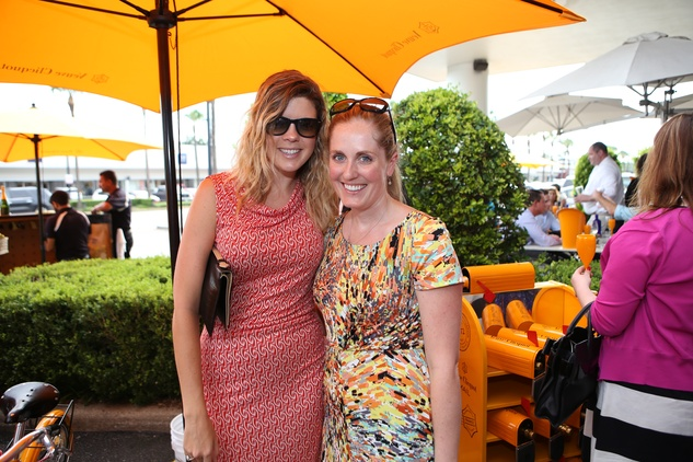 Avery Burns, left, and Gretchen Bieber at Veuve Clicquot at Brasserie 19