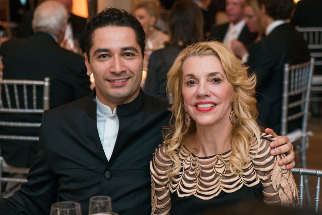 382 Andrés Orozco-Estrada and Marie Taylor Bosarge at the Houston Symphony Wolfgang Puck wine dinner March 2015