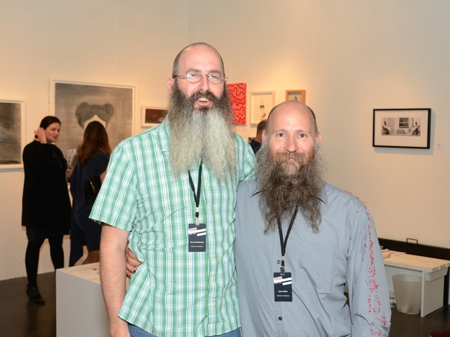 6 Stan Shellabarger, left, and Dutes Miller at the Texas Contemporary Art Fair VIP opening party October 2013