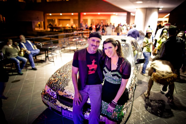 217 Allan Rodewald Christine Mill and at the Art Car Ball April 2015
