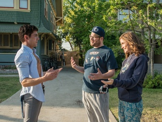 Zac Efron, Seth Rogen and Rose Byrne in Neighbors