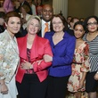 Mayor Annise Parker, Kathy Hubbard and family at wedding reception March 2014