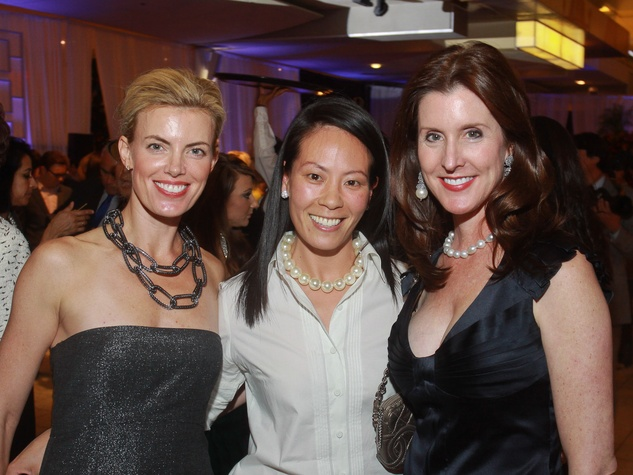 151 Katie Flaherty, from left, Ting Bresnahan and Phoebe Tudor at the Houston Ballet/Carnan Properties party.