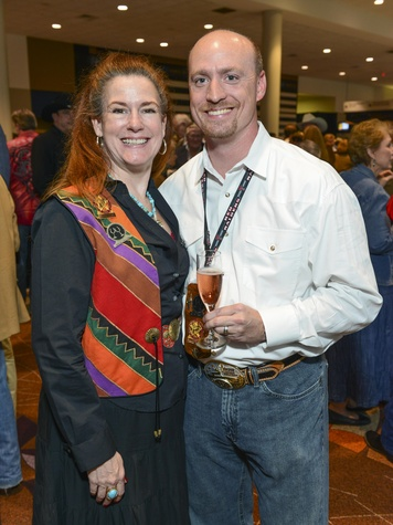 11 Monique Studak and William Darnell at the RodeoHouston Wine Auction Dinner March 2014