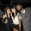 Uyen Pham, from left, Nhi Pham and Darius Brown at the MFAH Mixed Media Party June 2014