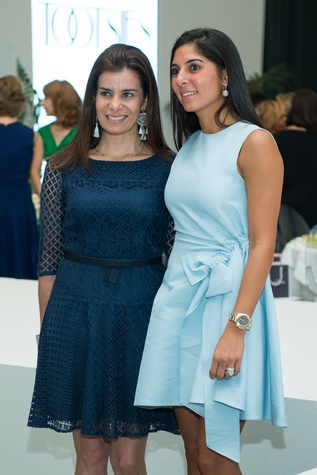 Mona Sarofim, Maria Munoz at Oscar de la Renta fashion show at MFAH